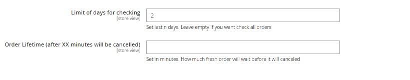 set order lifetime