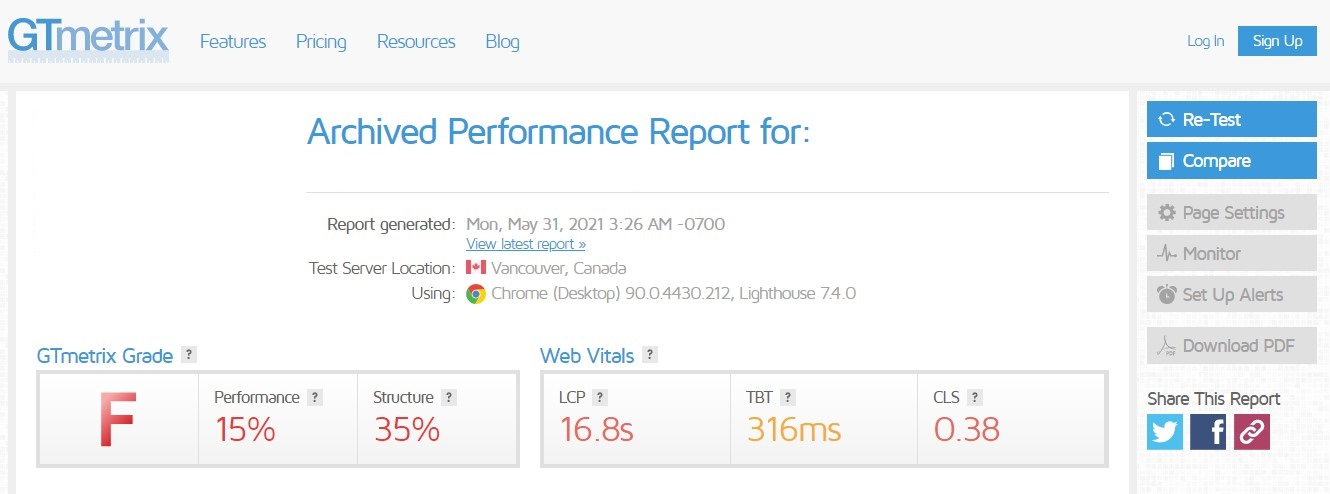 before page speed optimizer