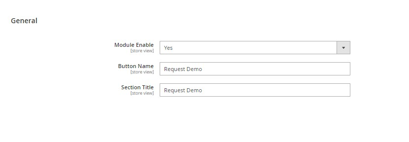 Request Demo Settings